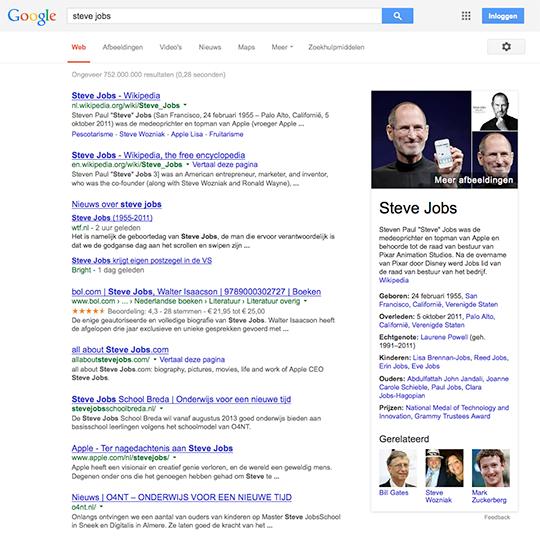 Zoekopdracht: Steve Jobs