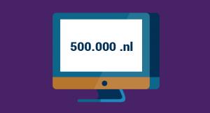 500.000 .nl domeinnamen: bekijk de infographic