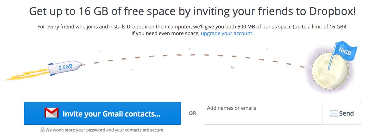 Dropbox growth hacking