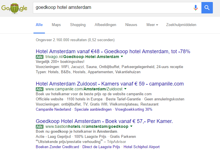 goedkoop hotel in amsterdam_google_adwords