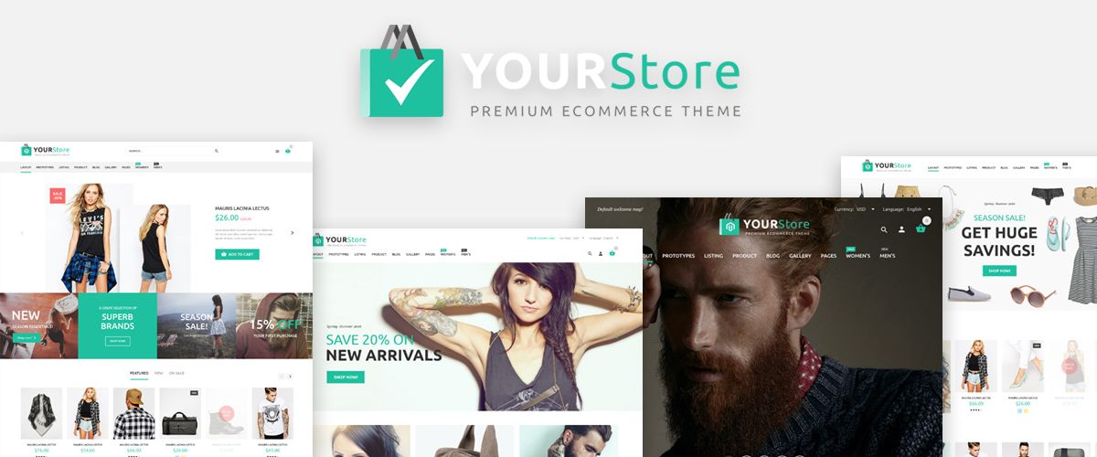 WooCommerce-thema: YourStore