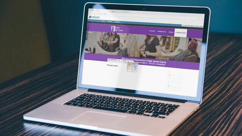 De websitestructuur in Website Maker bewerken