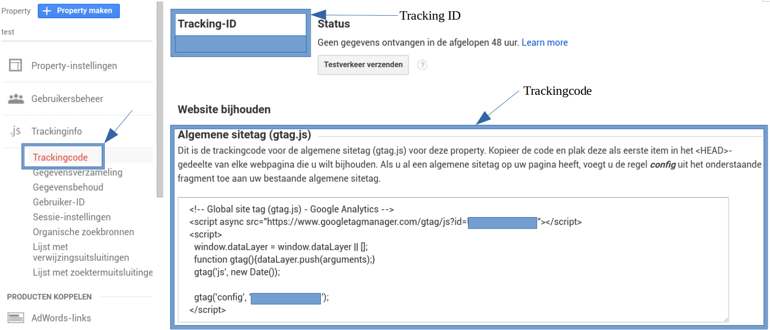 Google Analytics koppelen aan Website Maker