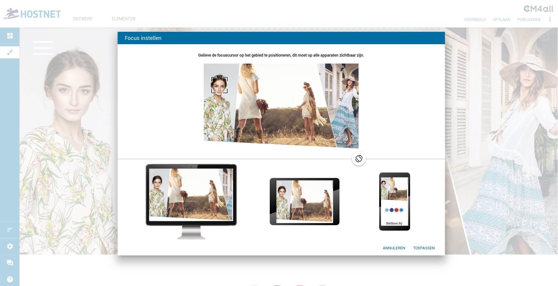 Website Maker-update: focuspunt voor afbeeldingen